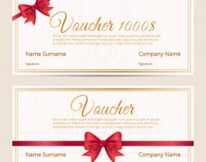 Voucher template cards Photoshop brush