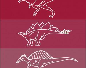 Dinosaur line drawing icons Photoshop brush