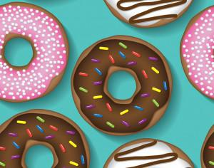 Doughnut repeating pattern Photoshop brush