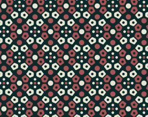 Retro navy, cream, and red mosaic pattern Photoshop brush