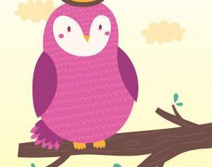 Vector illustration of the owl Photoshop brush