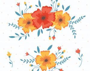 Vector floral elements Photoshop brush