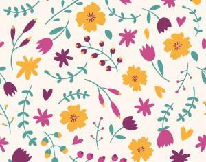 Seamless floral pattern Photoshop brush