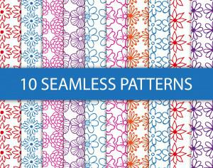 Seamless floral patterns Photoshop brush