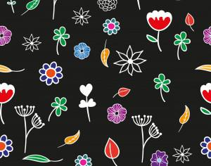 Seamless floral pattern Photoshop brush