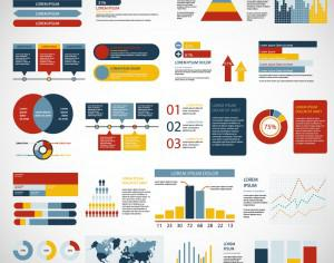 Infographics elements Photoshop brush