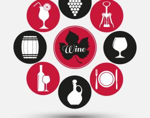 Wine set of icons Photoshop brush