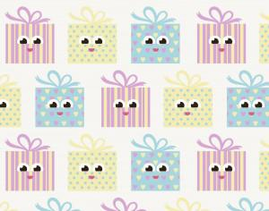 Cute pattern with gifts Photoshop brush