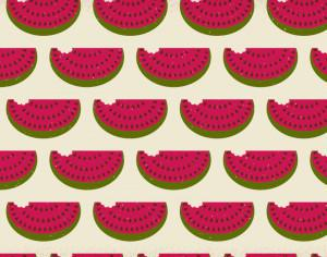 Watermelon pattern with subtle texture Photoshop brush