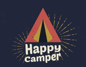 Happy Camper Illustration Photoshop brush