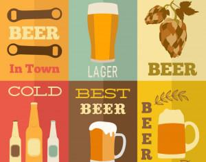 Beer flat concept design Photoshop brush