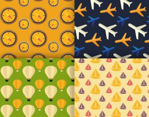 Travel vector patterns Photoshop brush