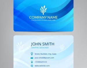 Blue business card Photoshop brush