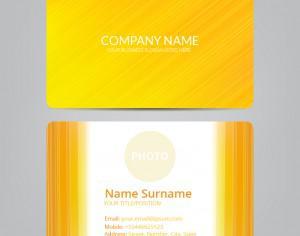 Orange business card Photoshop brush