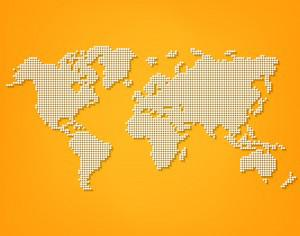 Vector Dotted World Map Photoshop brush