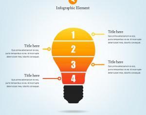 Lightbulb Infographic Photoshop brush