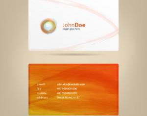 Watercolor Business Card Photoshop brush