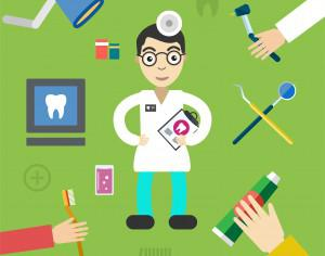 Dentist character with tools free vector illustration Photoshop brush
