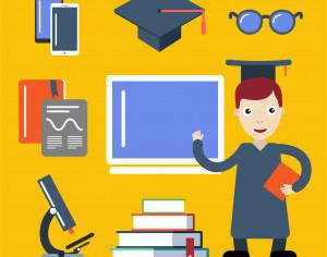Student character vector illustration for free design Photoshop brush