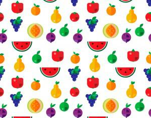 Food seamless pattern Photoshop brush