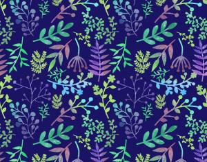 Floral watercolor pattern Photoshop brush