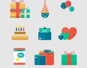 Birthday Icons Photoshop brush