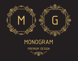 Monogram design templates Photoshop brush