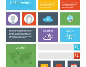 Flat Ui Elements Design Photoshop brush