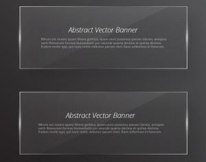Transparent glass abstract banners Photoshop brush