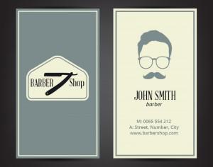 Barber shop business card Photoshop brush