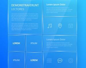 Transparent, blue glassy user interface  Photoshop brush