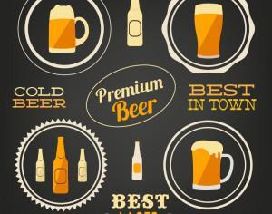 Beer vector elements, typo set Photoshop brush