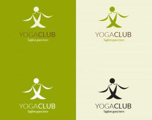 Yoga pose vector logo Photoshop brush