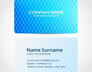 Hexagon business card design Photoshop brush