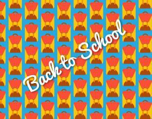 School bag pattern, back to school Photoshop brush