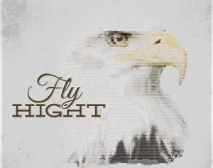 Vintage geometric eagle with typography Photoshop brush