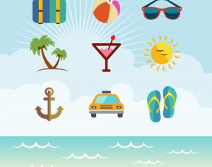 Travel Vector Icon set Photoshop brush