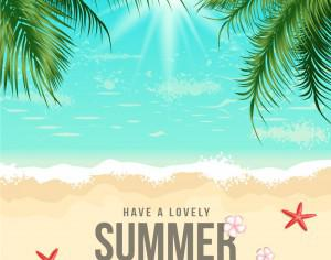 Summer Beach Vector Illustration Photoshop brush