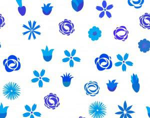 Floral seamless pattern Photoshop brush