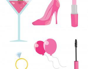 Pink Bachelorette Party Photoshop brush