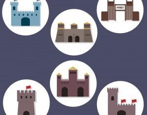 Flat Fort Icons Photoshop brush