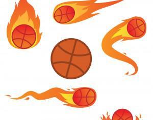 Basketball On Fire Photoshop brush