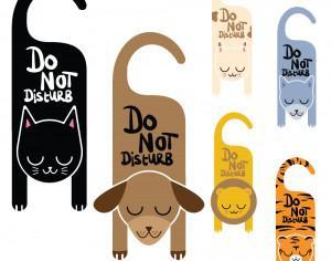 Do not disturb animal signs Photoshop brush