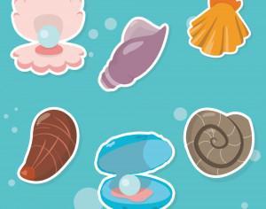 Sea shells Photoshop brush