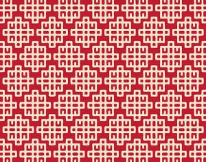 Asian Red and White Geometric Pattern Photoshop brush