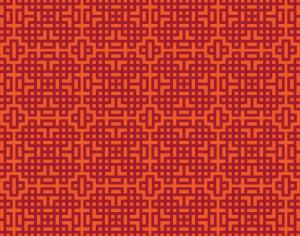 Asian Red, and Orange Geometric Pattern Photoshop brush