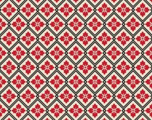Asian Floral Red, White, and Black Pattern Photoshop brush