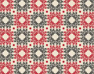 Asian Red, White, and Black Pattern Photoshop brush