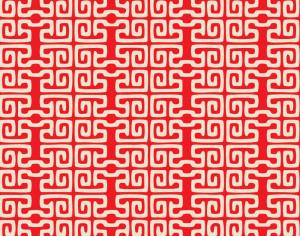 Asian Red and White Pattern Photoshop brush