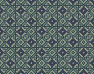 Vintage Geometric Blue and Green Pattern Photoshop brush